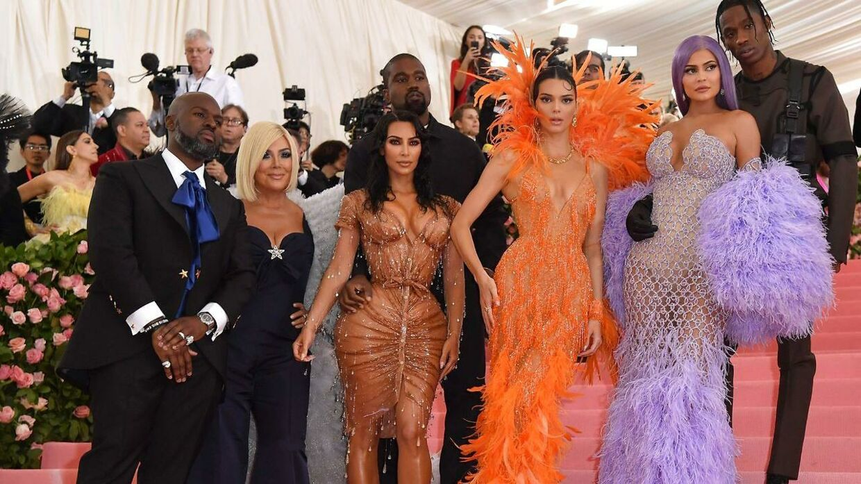 Kardashian-Jenner-familien til MET-galla i 2019.