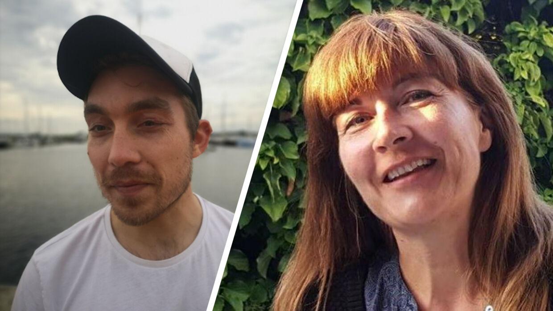 Kasper Jensen og Stine Lund lider begge af den sjældne kødallergi. Her har Kasper Jensen en voldsom reaktion på netop kød. Privatfoto.