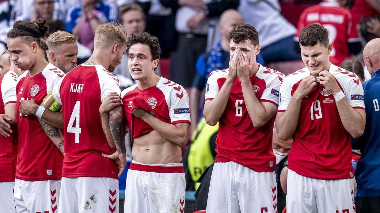 Danske landsholdsspillere i chok efter Eriksens kollaps.