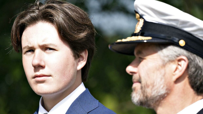 Prins Christian med kronprins Frederik i Sønderjylland til markeringen af 100-året for genforeningen.