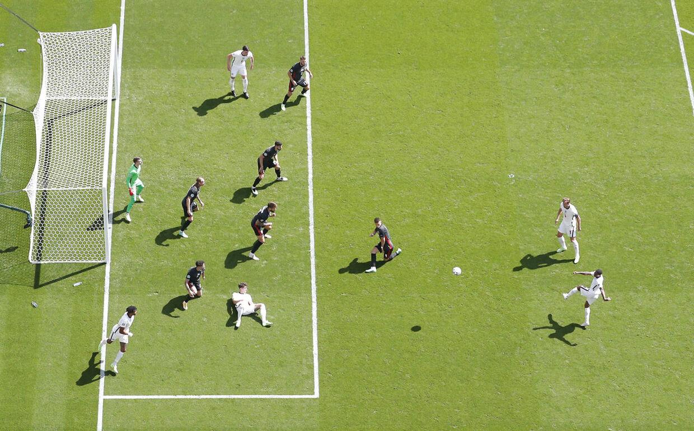 Soccer Football - Euro 2020 - Group D - England v Croatia - Wembley Stadium, London, Britain - June 13, 2021 England's Raheem Sterling shoots at goal REUTERS/Carl Recine