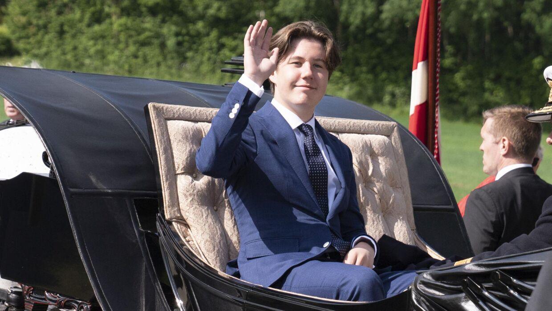 Prins Christian fik en forsmag på det liv, der venter.