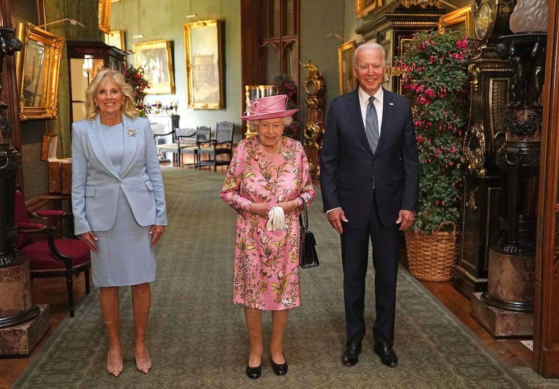Joe og Gill Biden til the på Windsor Castle