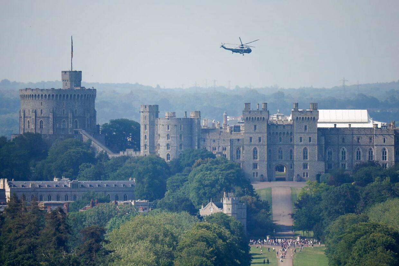Biden lander i Windsor