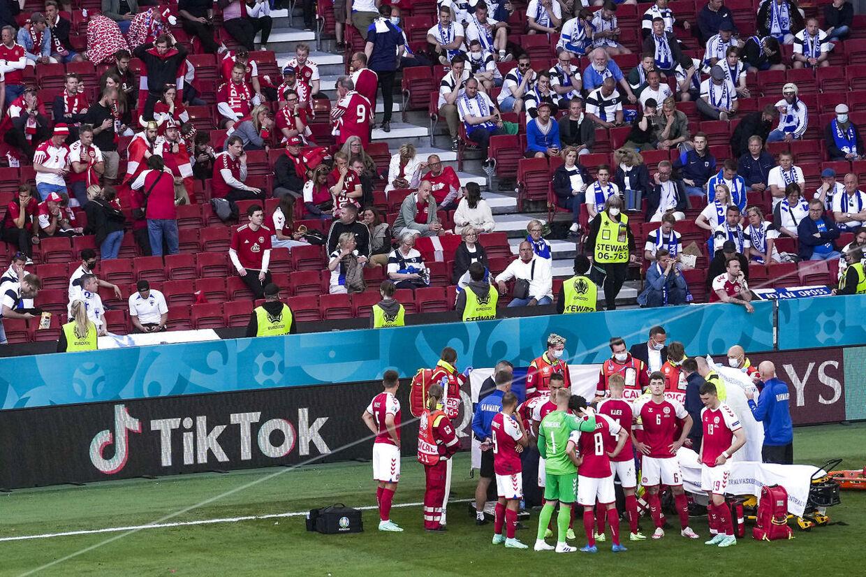 UEFA EURO 2020 Fodboldlandsholdet spiller første EM kamp i Parken imod Finland. Finland vinder kampen 0 - 1 Kampen blev overskygget af Christian Eriksens kollaps.