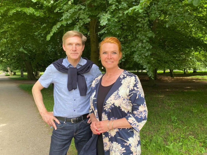 Kristian Thulesen Dahl og Inger Støjberg var mandag på besøg på Udrejsecenter Kærshovedgård. Privatfoto.