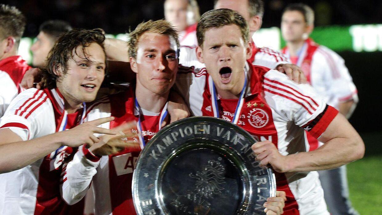 Fra venstre: Daley Blind, Christian Eriksen og Jan Vertonghen.