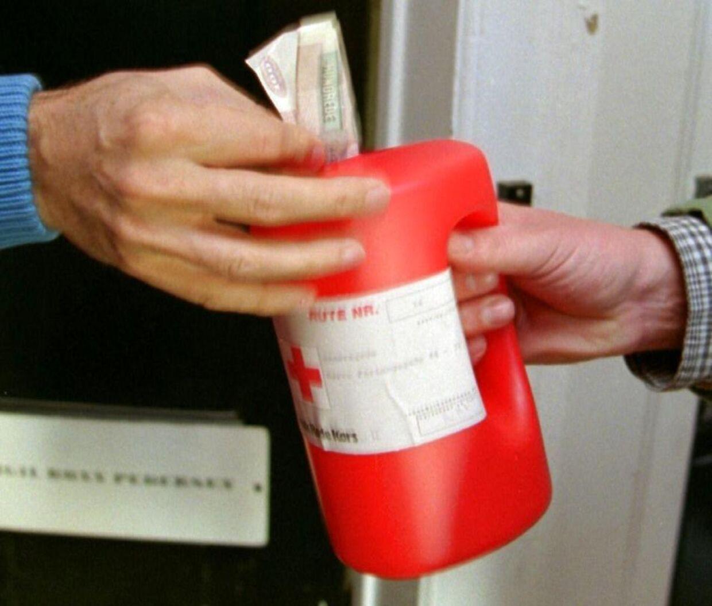 Doner ikke penge til Røde Kors-indsamlere, hvis du møder nogen omkring Høje Taastrup i dag. Det oplyser politiet. Arkivfoto: Scanpix.