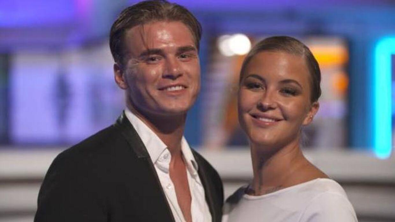 Olivia Salo og Joakim Meskali i 'Love Island'.