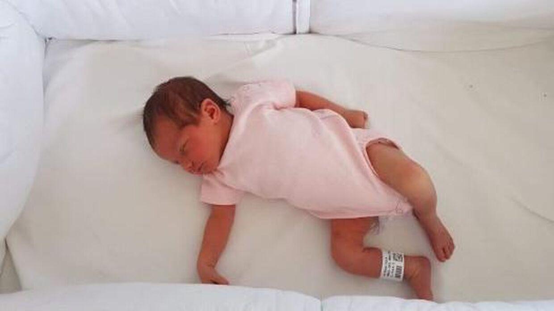 Lille Melina, da hun ankom til Bagsværd Observationshjem (Privatfoto)