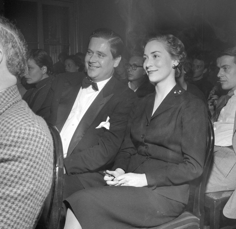 Skuespillerparret Mogens Wieth og Lily Weiding. Sammen fik de to børn.
