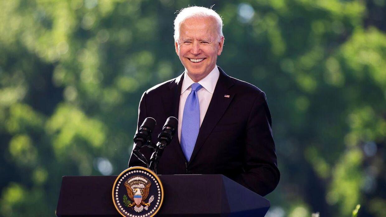 Joe Biden under topmødet.