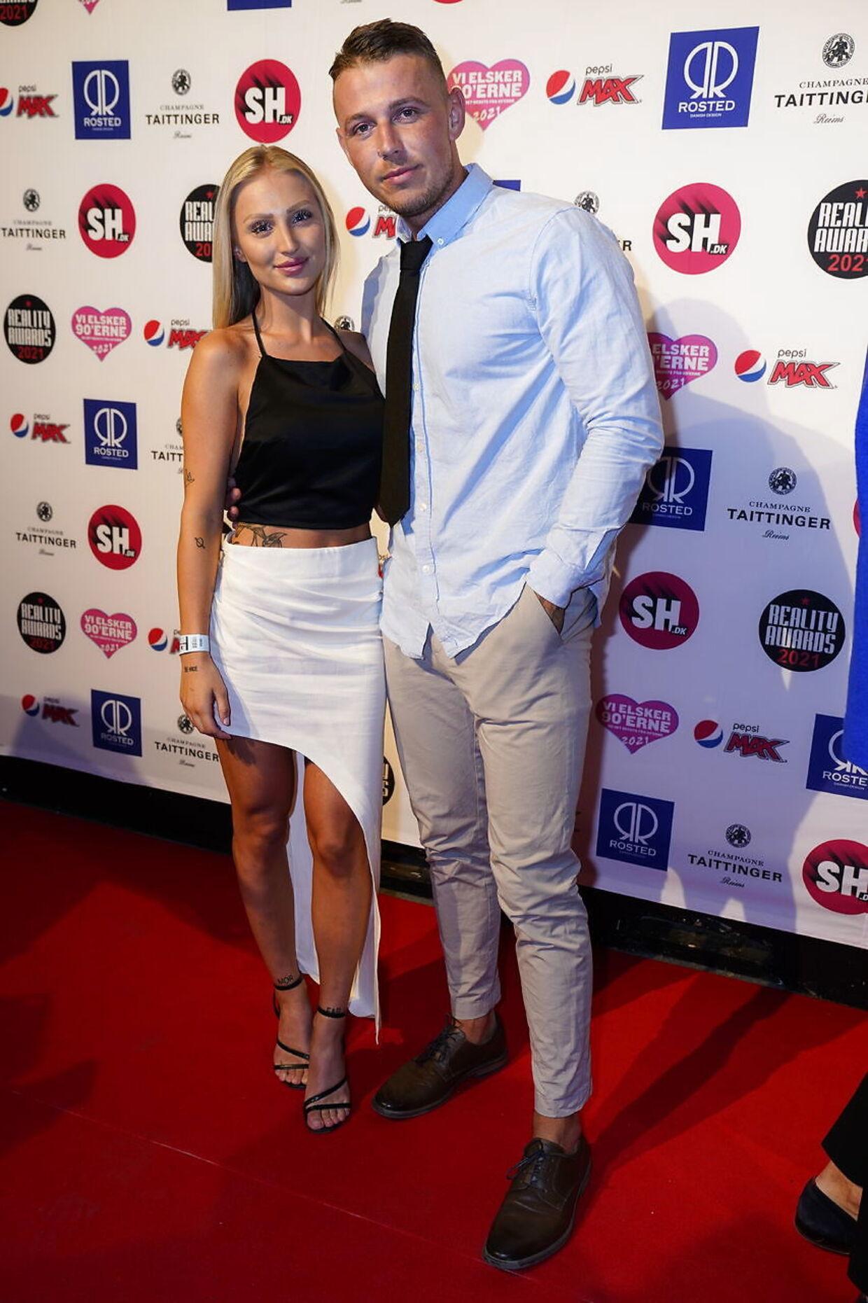 Nicklaes Johannes Olsen og Line Maria Busk til Reality Awards 2021.