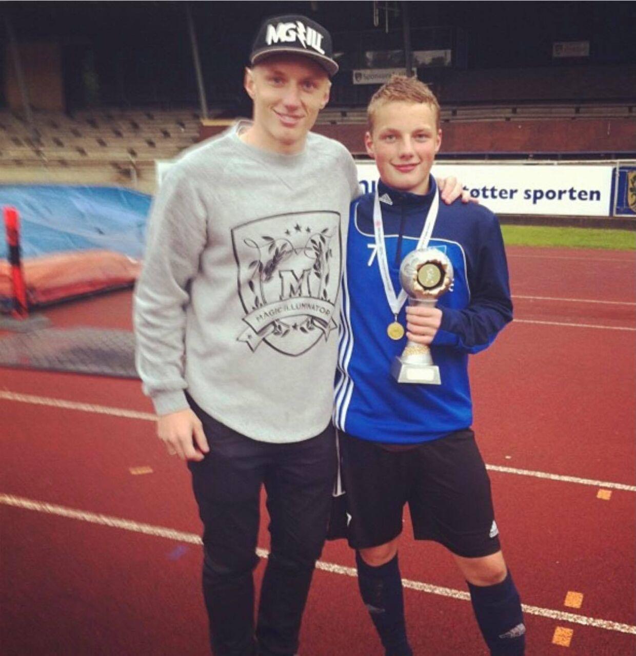 Daniel og Emil Wass i 2013, da Emil som ungdomsspiller blev Sjællandsmester med Lyndby Boldklub.
