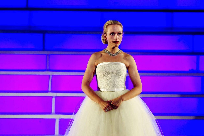Trine Jepsen som Evita i musicalen af samme navn på Musikteatret i Holstebro. Foto: Johan Gadegaard/Scanpix 2012.