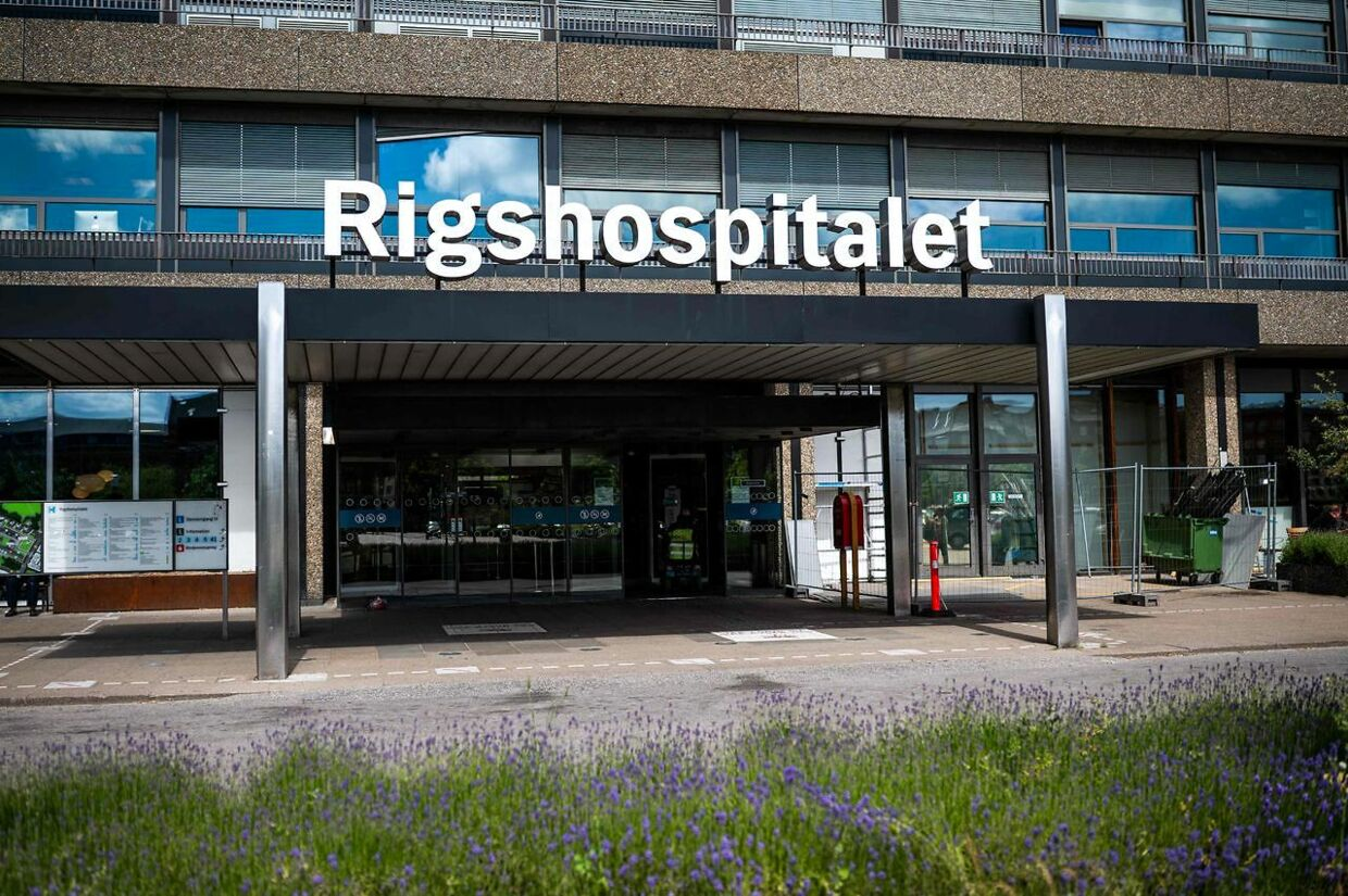 A photo taken on June 13, 2021 shows the Rigshopitalet hospital in Copenhagen, where Denmark's midfielder Christian Eriksen is hospitalized after he collapsed on the pitch during the UEFA EURO 2020 Group B football match between Denmark and Finland on June 12. (Photo by JONATHAN NACKSTRAND / AFP)