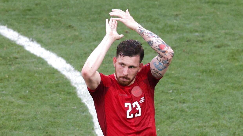 Højbjerg var imponeret af fansene i Parken mod Belgien.
