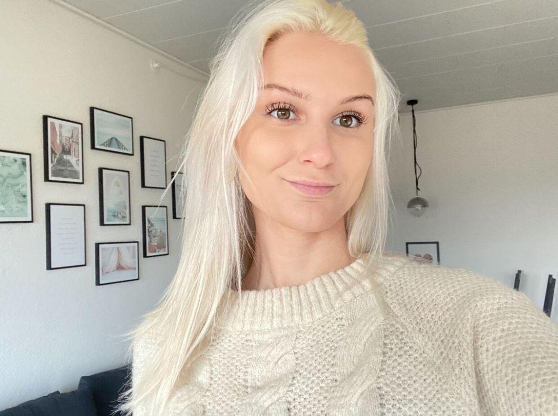 Carina Sofie Skjoldborg prøvede lykken og søgte et job gennem Facebook. Privatfoto.