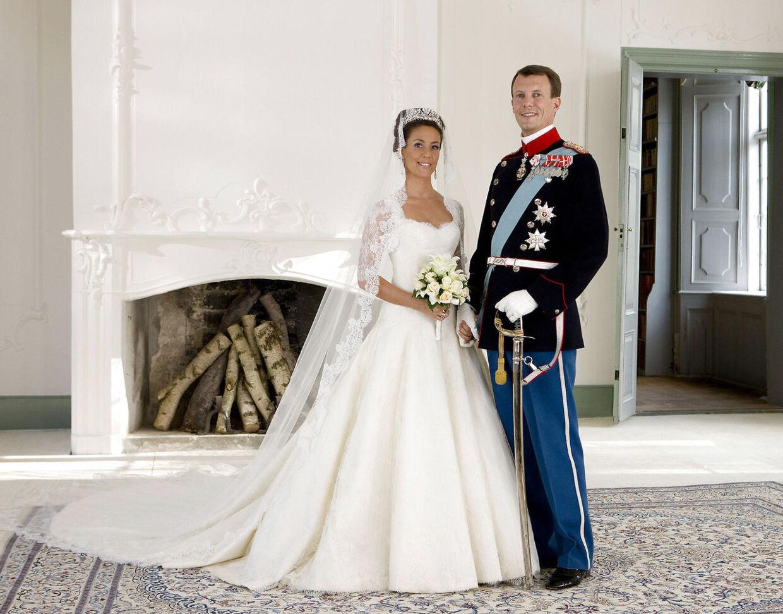 Prins Joachim og prinsesse Marie blev gift på Schackenborg. Foto SCANPIX DENMARK /Steen Brogaard
