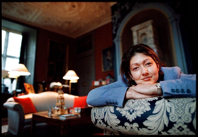 Grevinde Alexandra, dengang det var hende, der slængede sig i sofaerne på Schackenborg Slot. Foto Claus Bjørn Larsen.