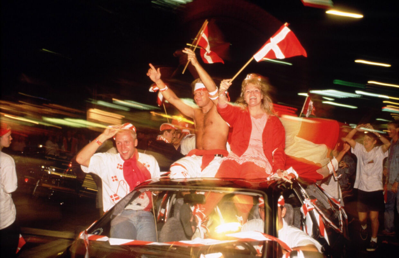 Dansk jubel da vi den 26. juni 1992 vandt EM i fodbold.