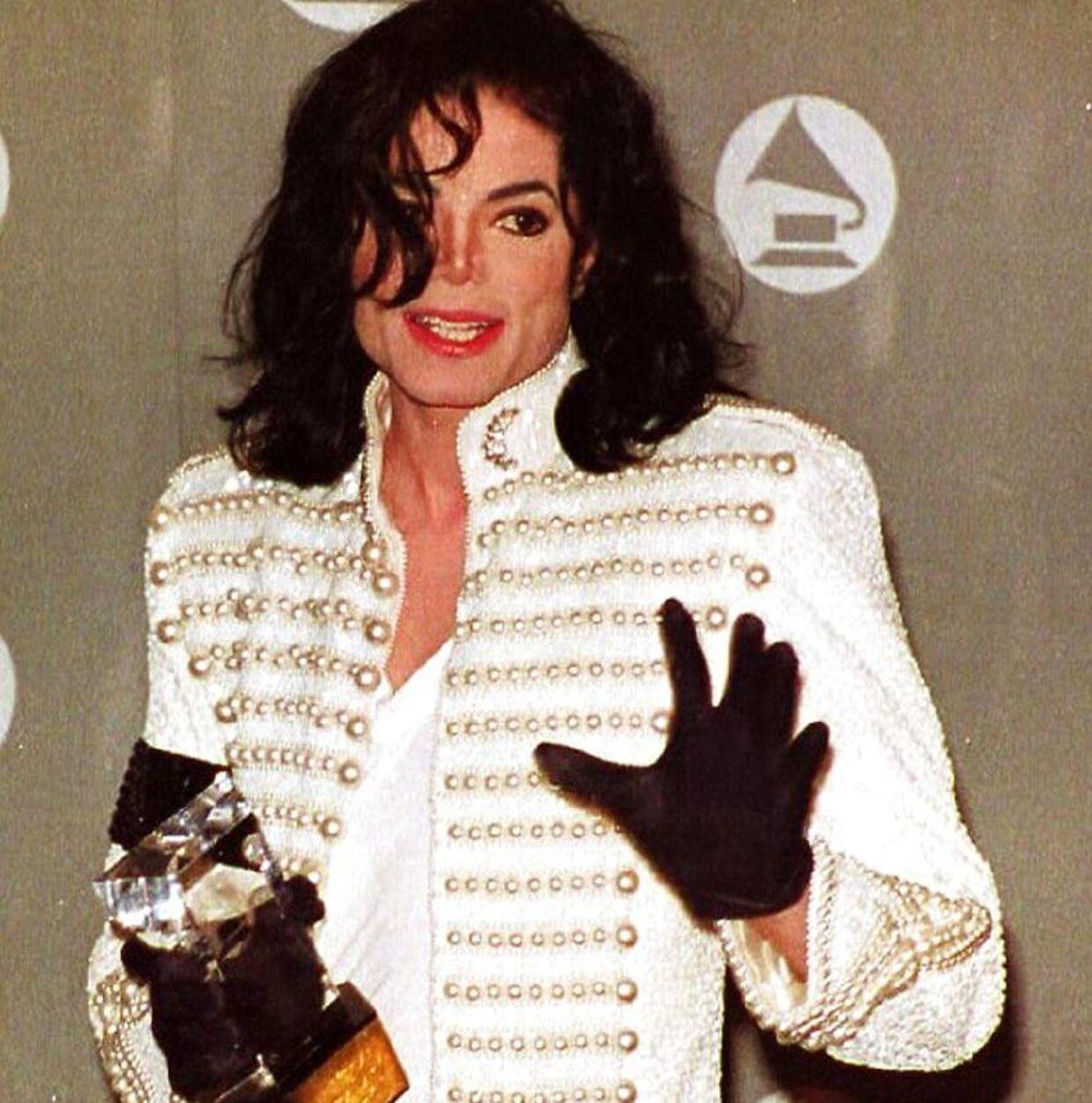 Jacob Risgaard var kæmpe fan af Michael Jackson og husker tydeligt, da han i 1984 vandt syv Grammyer. Billedet her er dog fra uddelingen i 1993.
