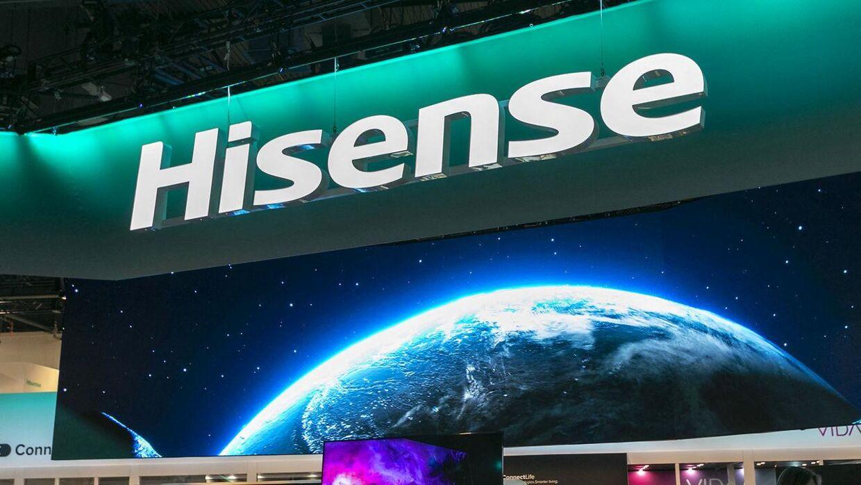 Det kinesiske tv-mærke Hisense.