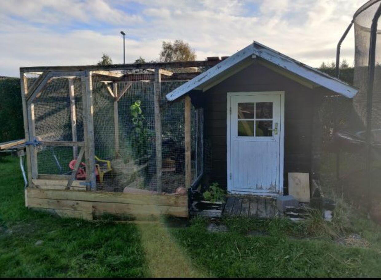 Sådan ser buret i familiens have ud.