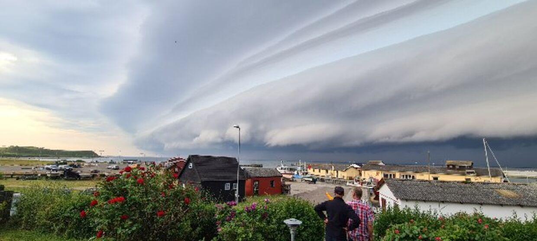 Vilde skyformationer over Vestsjælland.