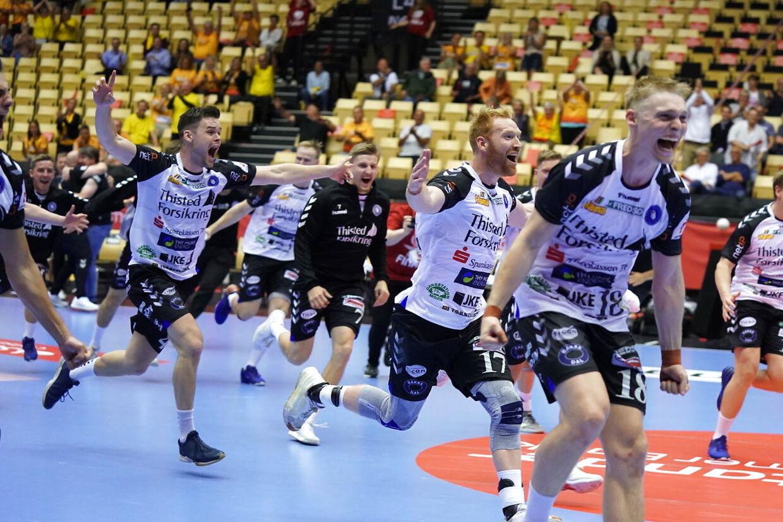 finalen i Santander Cup mellem Aalborg Håndbold og Mors-Thy Håndbold i Jyske Bank Boxen i Herning, søndag den 20. juni 2021