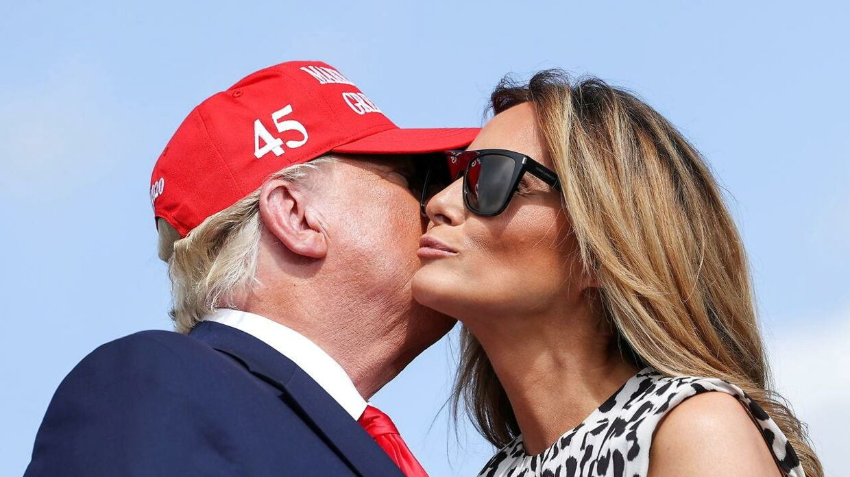 Der forlyder, at der er knas i ægteskabet mellem Donald og Melania Trump.
