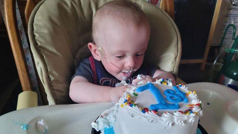 Richard på sin etårs fødselsdag.