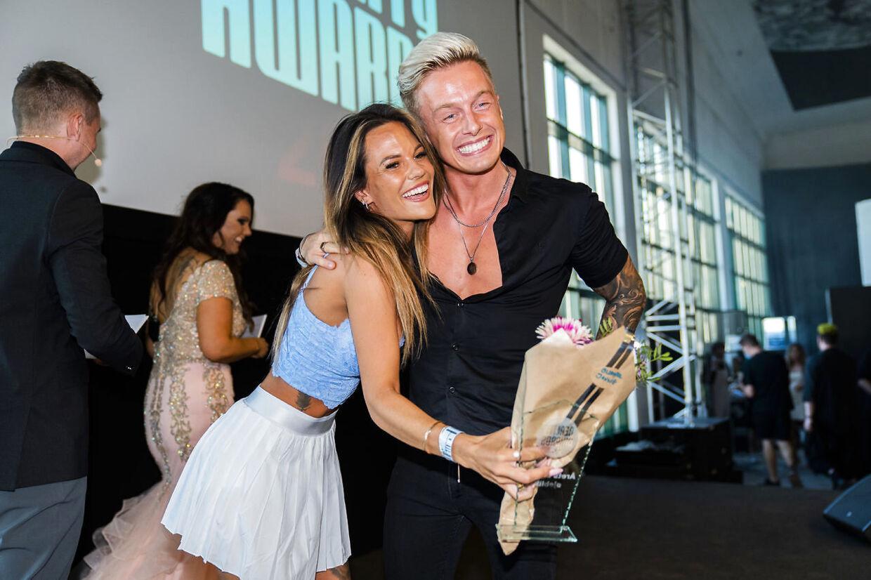 Teitur Skoubo og ekskæresten Christel Trubka ved Reality Awards 2021.