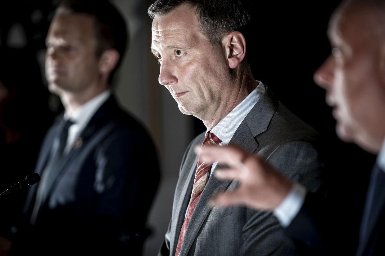 Justitsminister Nick Hækkerup under et pressemøde i Eigtveds Pakhus i København, tirsdag den 18. maj 2021.