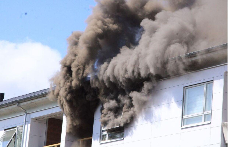 Brand i lejlighed i Roskilde (Foto: Presse-fotos.dk)