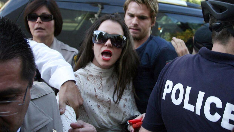 Sådan så det ud i 2008, da Britney Spears ankom til retten i Los Angeles.