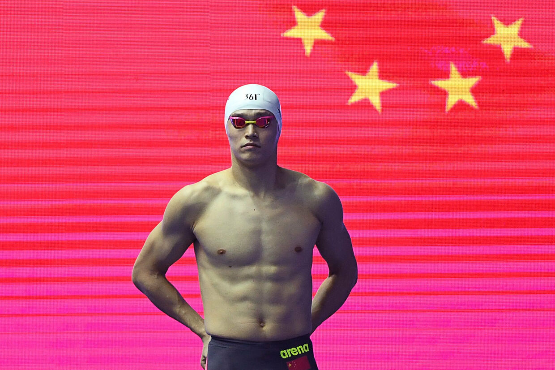 Sun Yang har tre OL-guldmedaljer på CV'et. To fra OL i 2012 i 400 og 1500 meter fri og en enkelt fra OL i 2016 i 200 meter fri. (Arkivfoto) Manan Vatsyayana/Ritzau Scanpix
