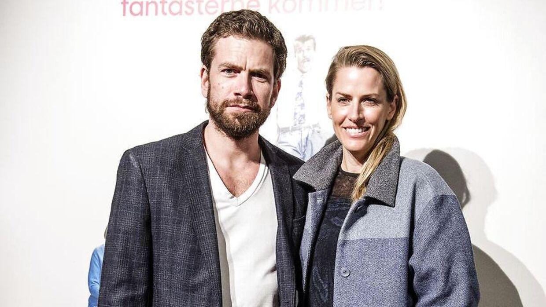 Nikolaj Lie Kaas med hustruen Anne Langkilde.