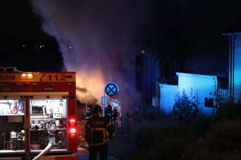 Sådan så det ud, da akutberedskabet var nået til Riddergade i Vordingborg 20. juni. Foto: Presse-fotos.dk