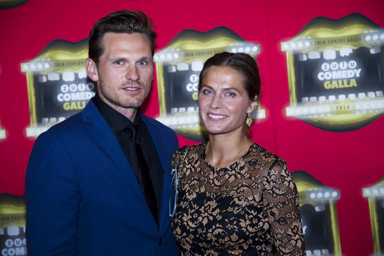 Andrea Elisabeth Rudolph medsin kæreste Claus Møller Jakobsen i 2014.