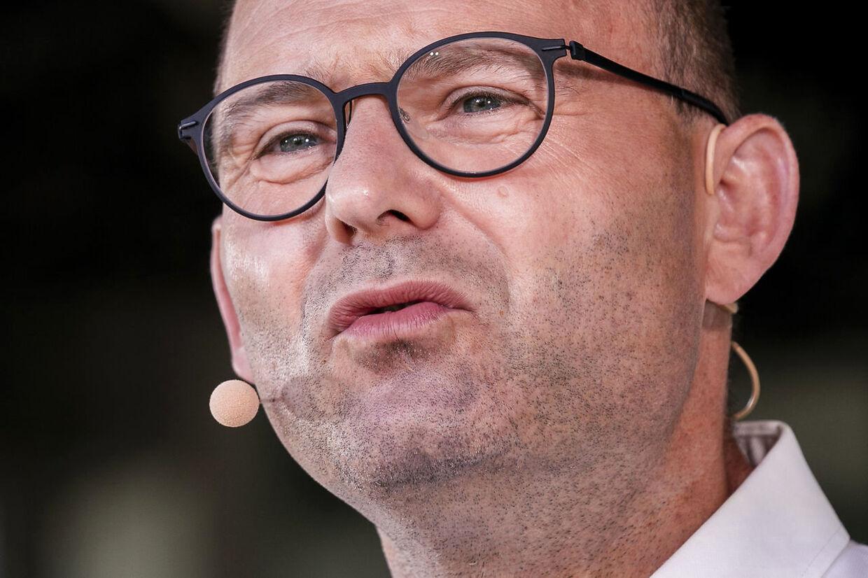 Formand for Konservative, Søren Pape Poulsen, holder partiledertale fra Hovedscenen på Folkemødet i Allinge, lørdag den 19. juni 2021.. (Foto: Ida Marie Odgaard/Ritzau Scanpix)