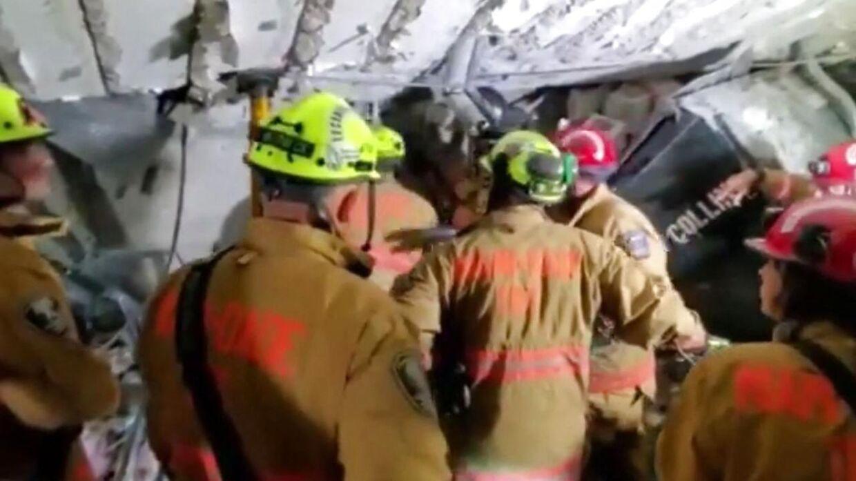 Redningsmandskabet leder fortsat efter overlevende i murbrokkene.