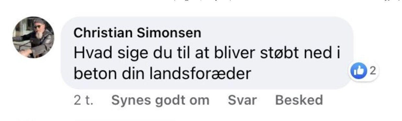 Christian Simonsen har skrevet til Kristian Hegaard og spurgt hvad han siger til at blive støbt ind i beton.