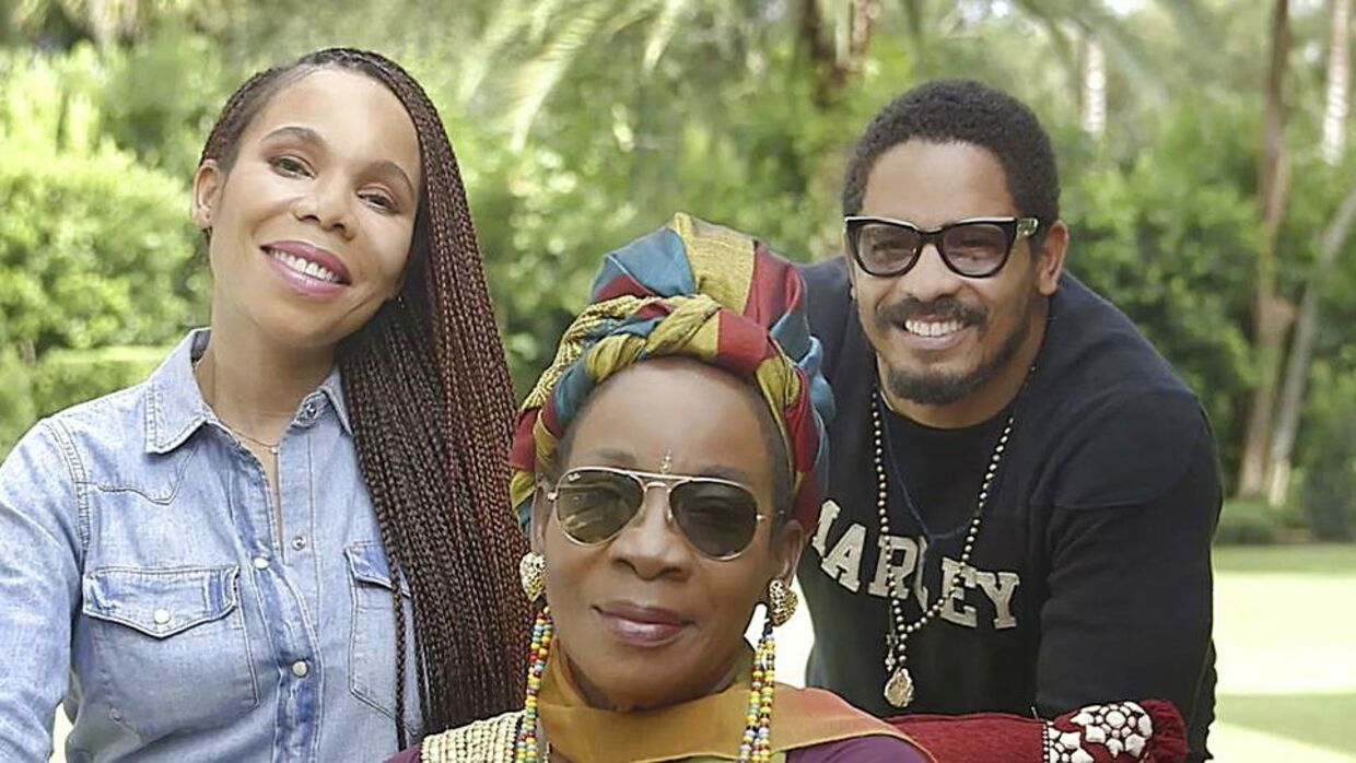 """Some of the family of Jamaican reggae star, the late Bob Marley - - children Cedella Marley (L) and Rohan Marley (R) and wife Rita Marley - - are pictured in Miami in this September 2014 handout photo obtained by Reuters November 17, 2014. The family of Reggae icon Bob Marley and a Seattle-based private equity firm on November 18, 2014, said they are launching the first global cannabis brand with marijuana products sold under a name long tied to a plant he lovingly called """"the herb"""". REUTERS/Privateer Holdings/Handout via Reuters (UNITED STATES - Tags: AGRICULTURE BUSINESS ENTERTAINMENT POLITICS) THIS IMAGE HAS BEEN SUPPLIED BY A THIRD PARTY. IT IS DISTRIBUTED, EXACTLY AS RECEIVED BY REUTERS, AS A SERVICE TO CLIENTS. FOR EDITORIAL USE ONLY. NOT FOR SALE FOR MARKETING OR ADVERTISING CAMPAIGNS.NO ARCHIVES.NO SALES.NO COMMERCIAL USE"""