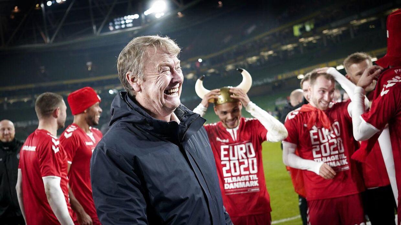 Hareide efter kvalifikationen til EM 2020, hvor Danmark med 1-1 i Dublin tog andenpladsen og direkte kvalifikation til EM.