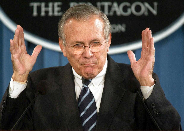 Donald Rumsfeld tjente som forsvarsminister to gange under to forskellige præsidenter.