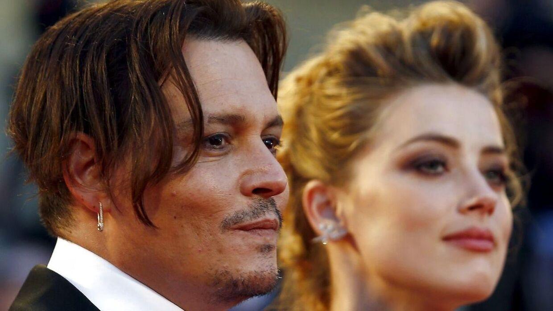 Skuespillerparret Amber Heard og Johnny Depp var gift i to år fra 2015 til 2017. Her ses de på den røde løber til filmen 'The Danish Girl' til Venice Film Festival.