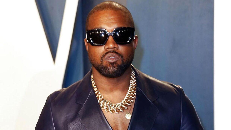 Kanye West til Vanity Fair Oscar-fest i Beverly Hills, Californien i 2020.