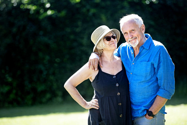 Familien betyder alt for Jussi Adler-Olsen. Her ses han med sin Hanne, som han har været sammen med i over 50 år.