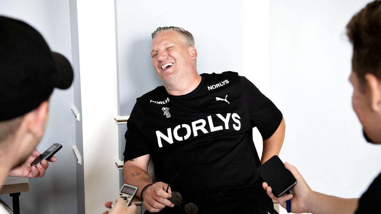 Nikolaj Jacobsen på tirsdagens pressemøde.